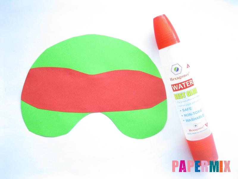 Как сделать маску черепашки ниндзя из бумаги поэтапно - шаг 5