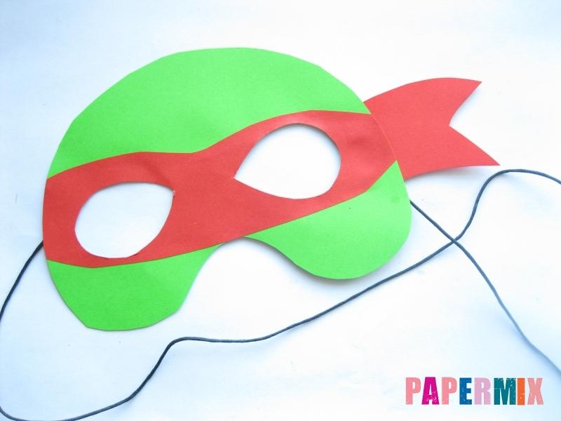 Как сделать маску черепашки ниндзя из бумаги поэтапно - шаг 9