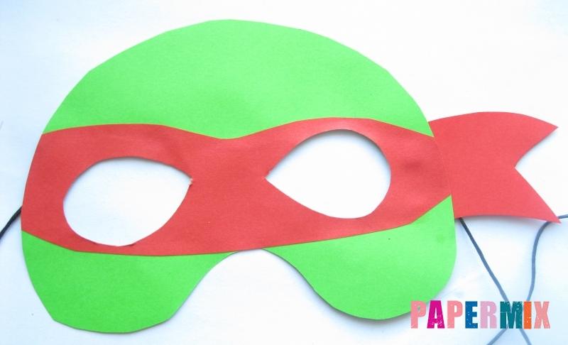 Как сделать маску черепашки ниндзя из бумаги своими руками поэтапно
