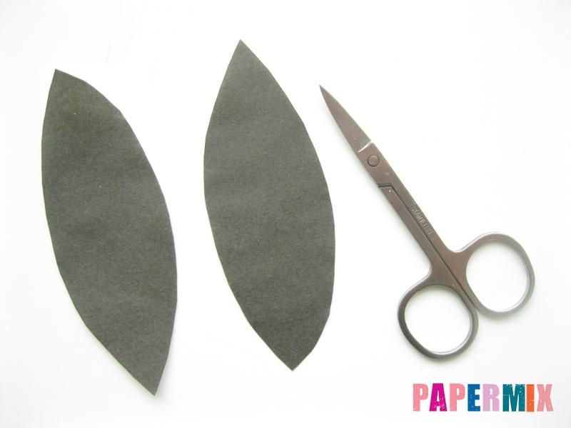 Как сделать маску Дедпула из бумаги своими руками - шаг 2