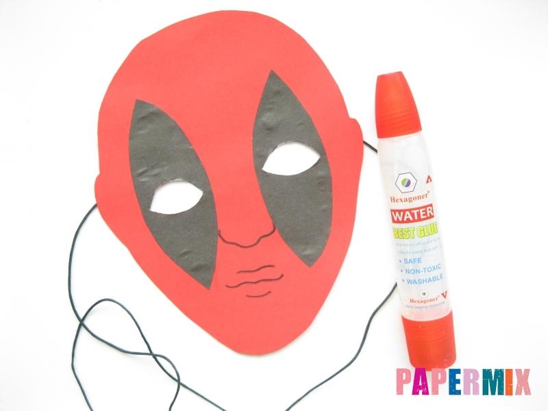 Как сделать маску Дедпула из бумаги своими руками - шаг 7