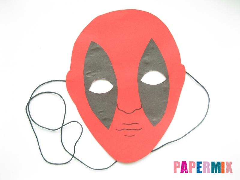 Как сделать маску Дедпула из бумаги своими руками - шаг 8