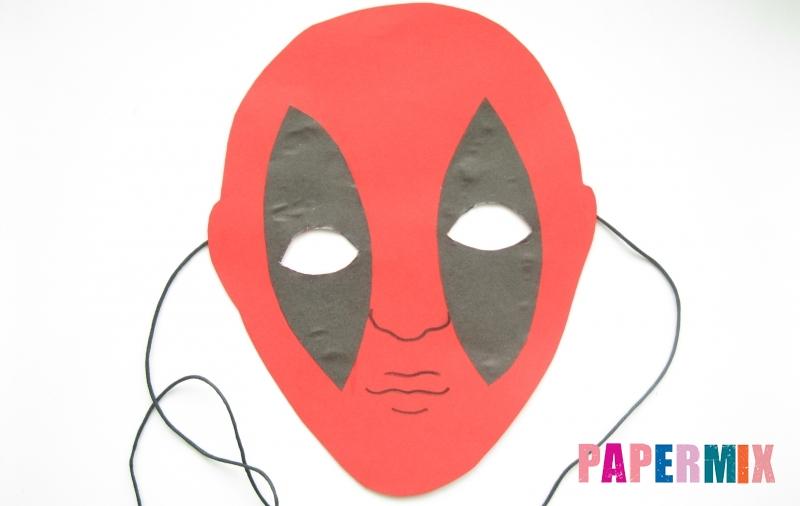 Как сделать маску Дедпула из бумаги своими руками поэтапно