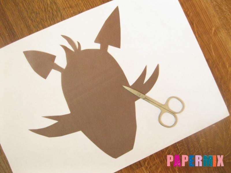 Как сделать маску Фокси из бумаги поэтапно - шаг 1