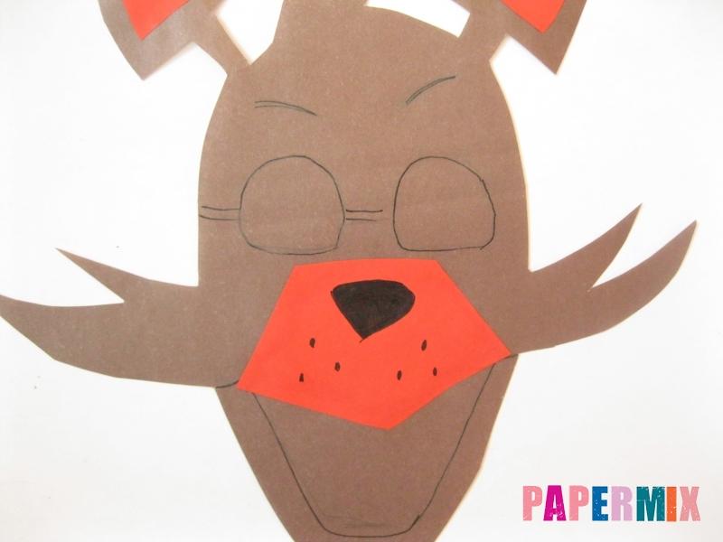 Как сделать маску Фокси из бумаги поэтапно - шаг 6