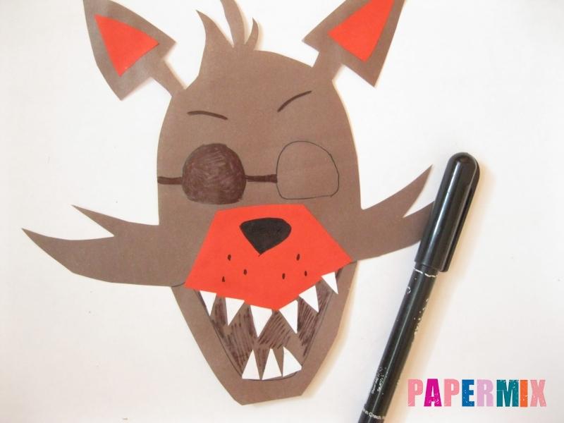 Как сделать маску Фокси из бумаги поэтапно - шаг 8