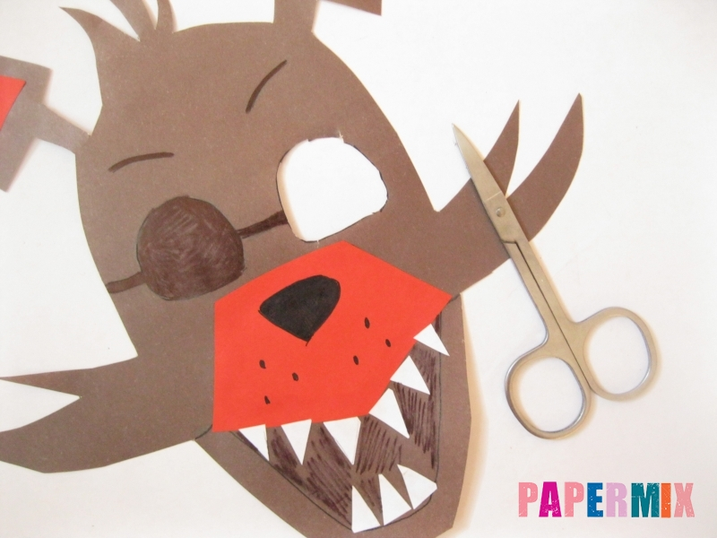 Как сделать маску Фокси из бумаги поэтапно - шаг 9
