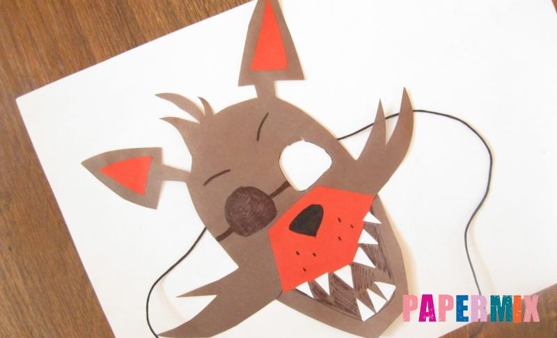 Как сделать маску Фокси из бумаги своими руками поэтапно