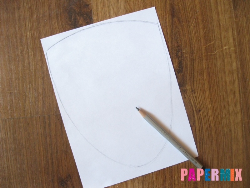 Как сделать маску Гая Фокса из бумаги своими руками - шаг 1