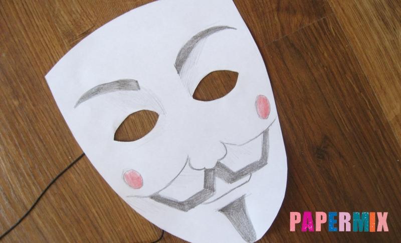 Как сделать маску Гая Фокса из бумаги своими руками поэтапно