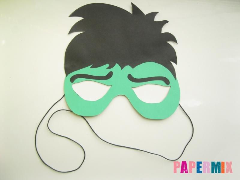 Как сделать маску Халка из бумаги своими руками - шаг 10