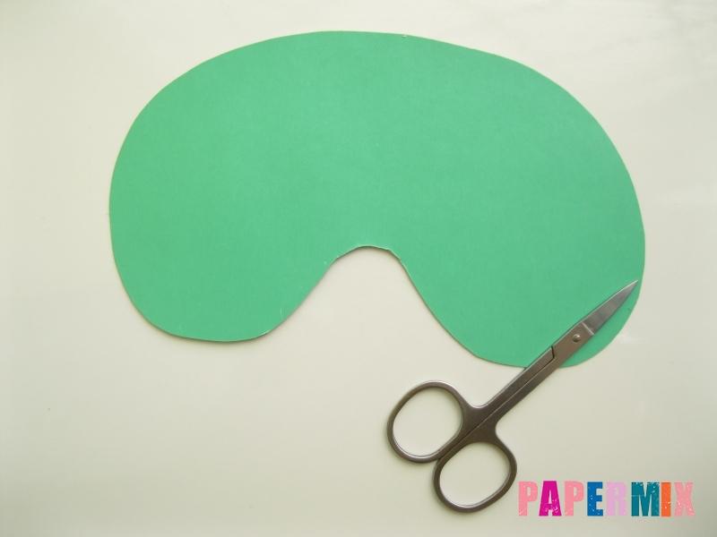 Как сделать маску Халка из бумаги своими руками - шаг 2