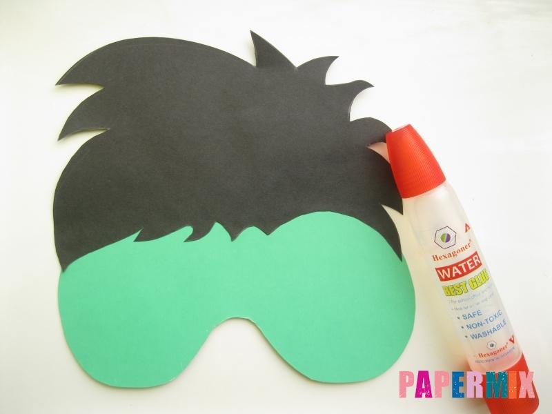Как сделать маску Халка из бумаги своими руками - шаг 4