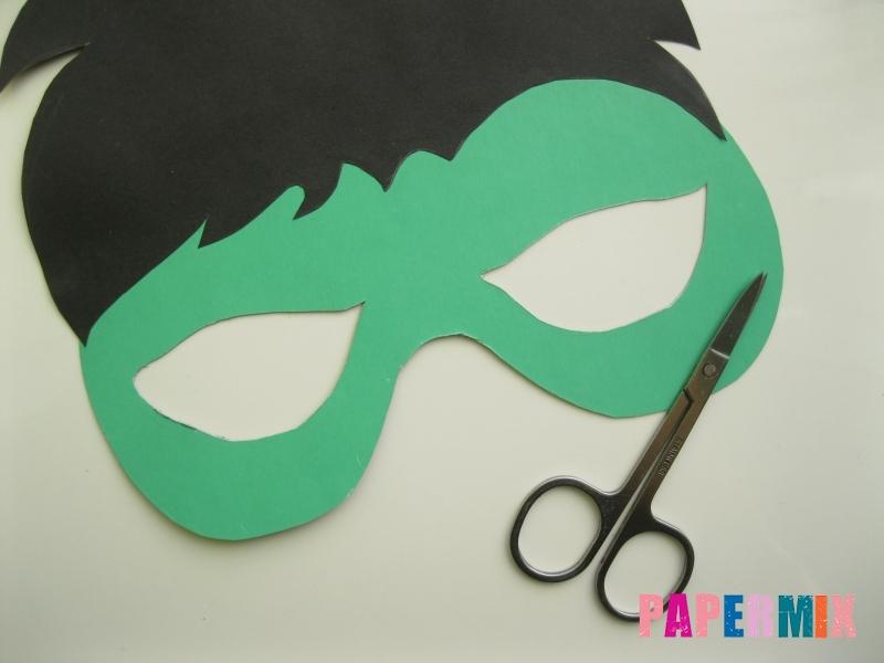 Как сделать маску Халка из бумаги своими руками - шаг 6