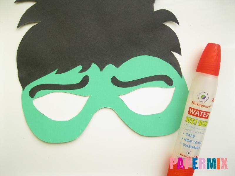 Как сделать маску Халка из бумаги своими руками - шаг 8