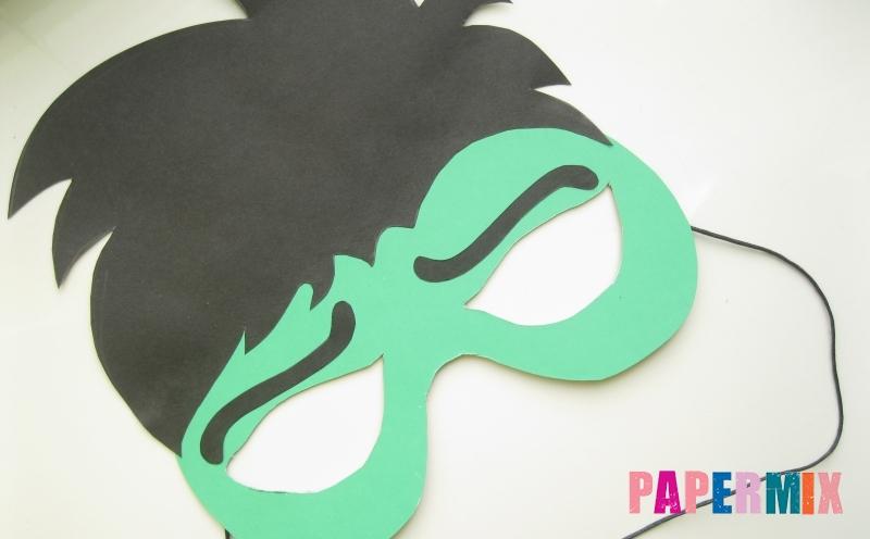 Как сделать маску Халка из бумаги своими руками поэтапно