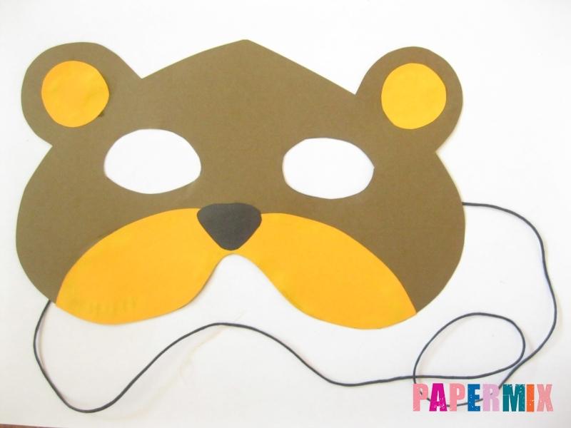 Как сделать маску медведя из бумаги своими руками - шаг 11