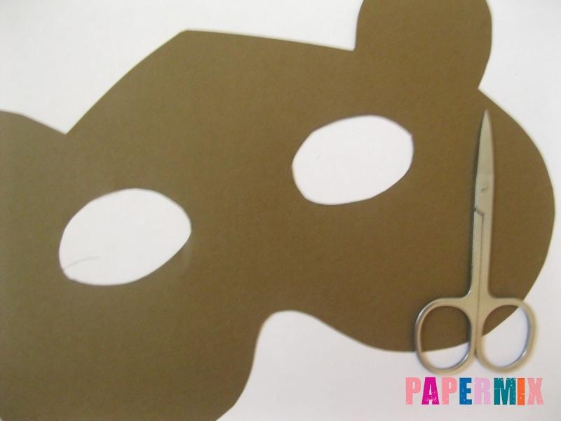 Как сделать маску медведя из бумаги своими руками - шаг 3