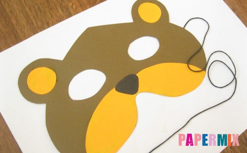 Как сделать маску медведя из бумаги своими руками поэтапно