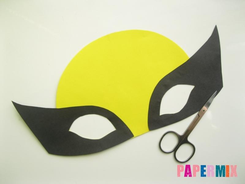 Как сделать маску Росомахи из бумаги своими руками - шаг 6