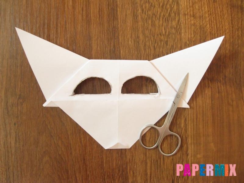 Как сделать маску волка из бумаги своими руками - шаг 15