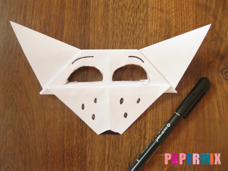 Как сделать маску волка из бумаги своими руками - шаг 16