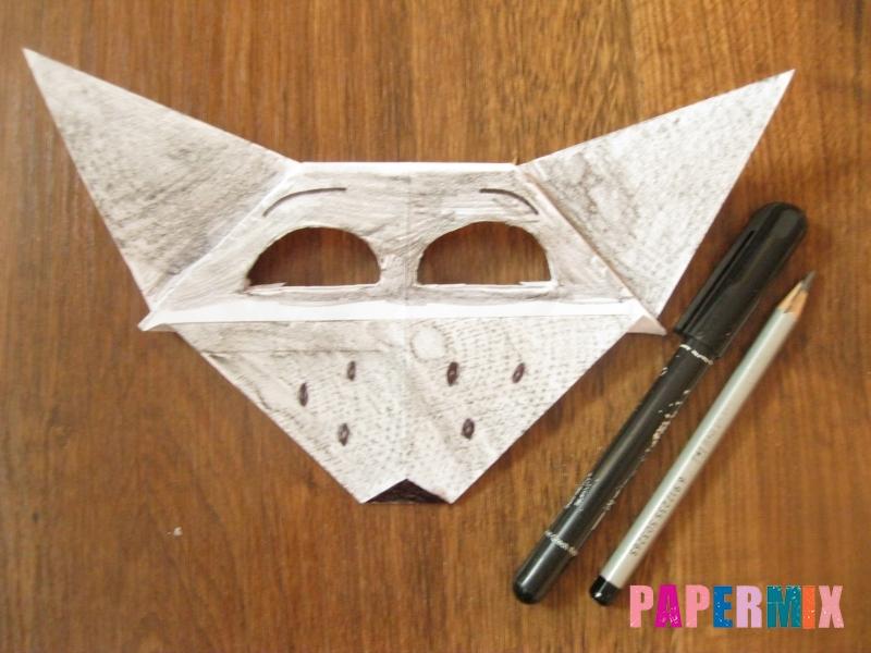 Как сделать маску волка из бумаги своими руками - шаг 17