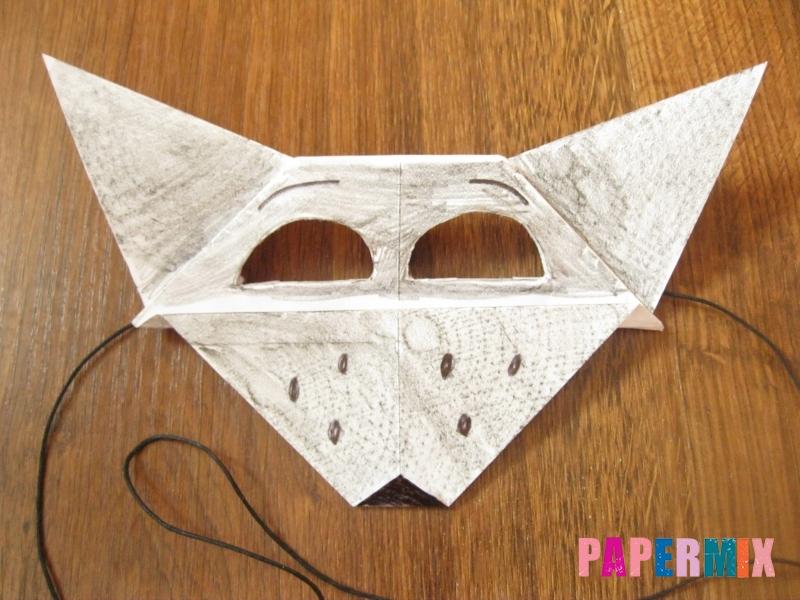 Как сделать маску волка из бумаги своими руками - шаг 19