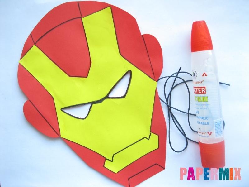 Как сделать маску железного человека из бумаги поэтапно - шаг 10