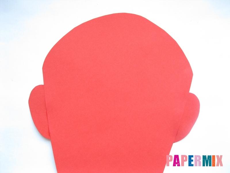 Как сделать маску железного человека из бумаги поэтапно - шаг 3