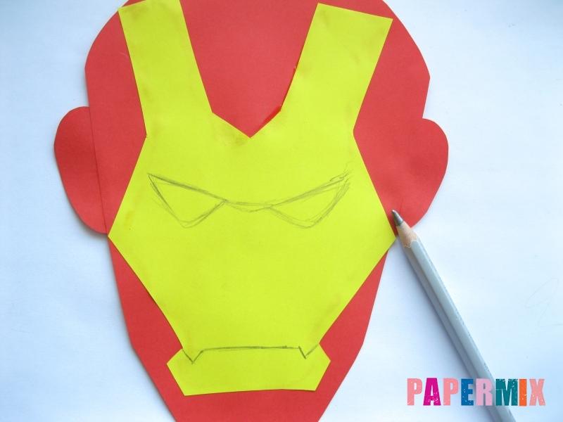 Как сделать маску железного человека из бумаги поэтапно - шаг 7
