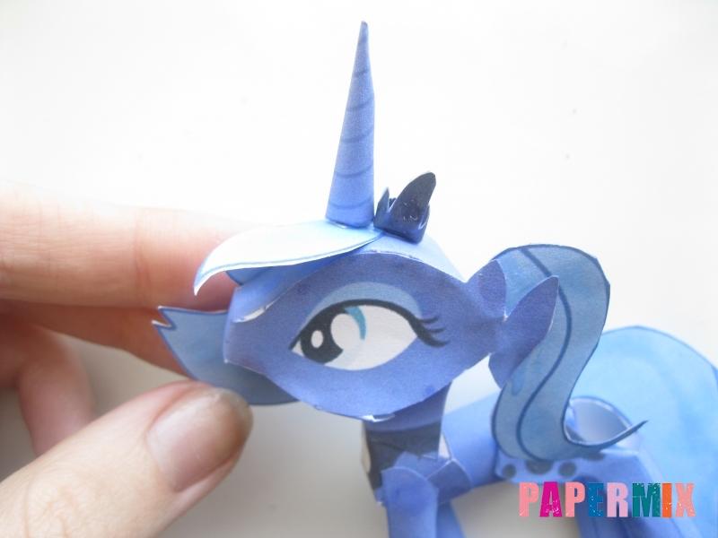 Как сделать Принцессу Луну по шаблону из бумаги своими руками - шаг 16