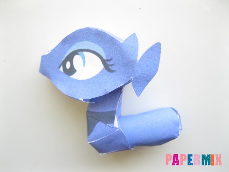 Как сделать Принцессу Луну по шаблону из бумаги своими руками - шаг 8