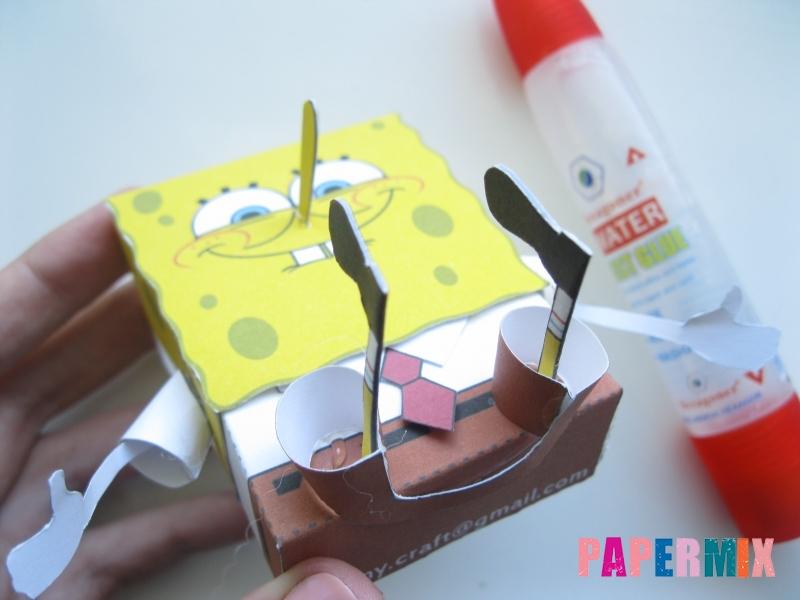 Как сделать Губку Боба из бумага по шаблону своими руками - шаг 16