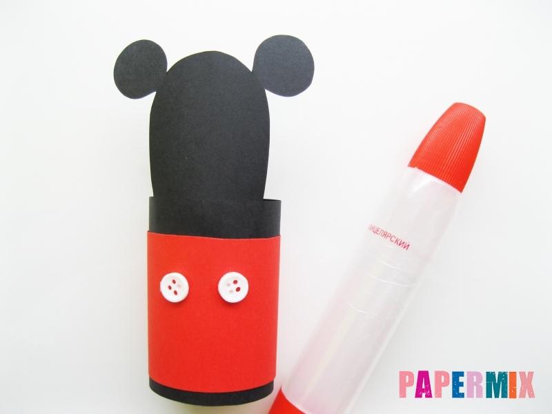 Как сделать Микки-Мауса из бумаги своими руками - шаг 10