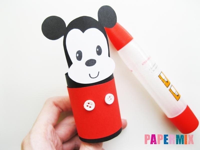 Как сделать Микки-Мауса из бумаги своими руками - шаг 11