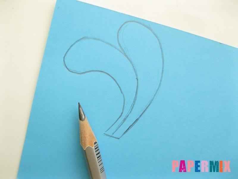 Как сделать объемного Кроша из бумаги поэтапно - шаг 3
