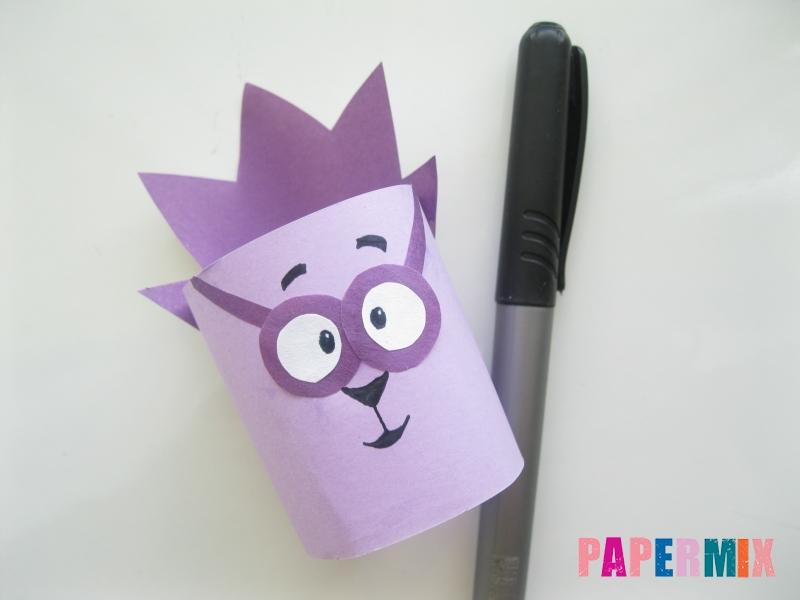 Как сделать объемного смешарика Ежика из бумаги своими руками - шаг 7