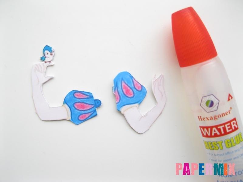 Как сделать объемную Белоснежку из бумаги поэтапно - шаг 9
