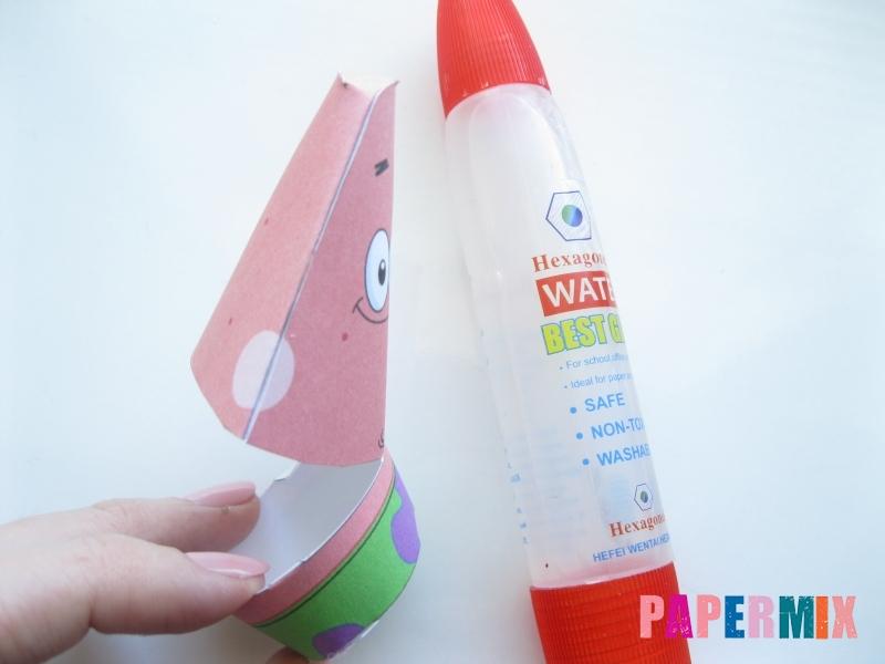 Как сделать Патрика из бумага по шаблону поэтапно - шаг 4