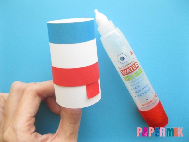 Как сделать объёмного снеговика из бумаги своими руками - шаг 8