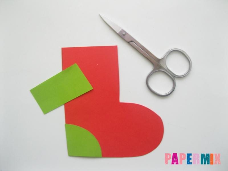 Как сделать сапоги из бумаги на Новый год своими руками  - шаг 5