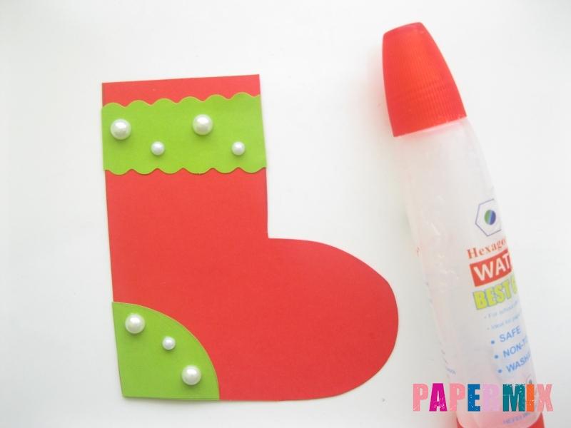 Как сделать сапоги из бумаги на Новый год своими руками  - шаг 8