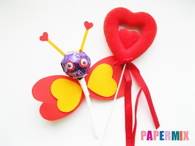 Как сделать бабочку из чупа-чупса ко дню святого валентина - шаг 10