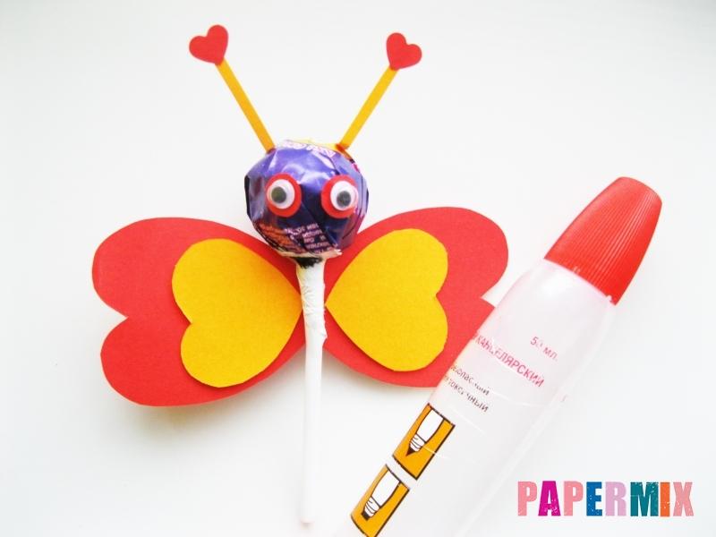 Как сделать бабочку из чупа-чупса ко дню святого валентина - шаг 9