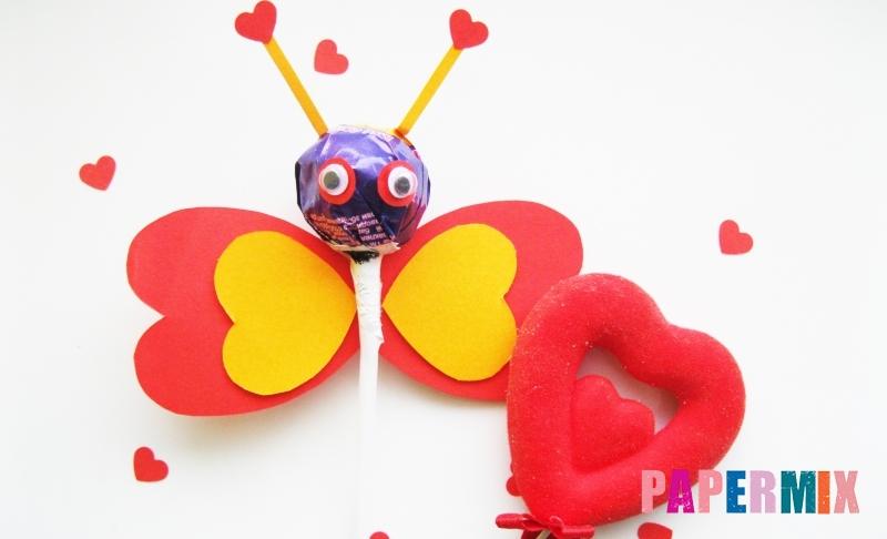 Как сделать бабочку из чупа-чупса ко дню святого валентина своими руками