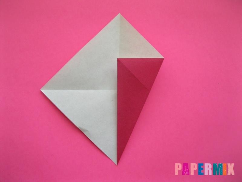 Как сделать Деда Мороза из бумаги (оригами) своими руками - шаг 3