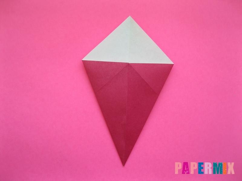 Как сделать Деда Мороза из бумаги (оригами) своими руками - шаг 4
