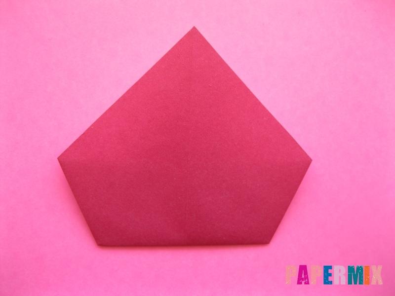 Как сделать Деда Мороза из бумаги (оригами) своими руками - шаг 6