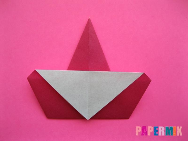 Как сделать Деда Мороза из бумаги (оригами) своими руками - шаг 7